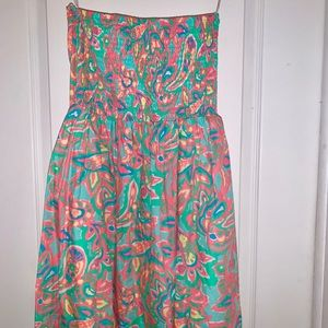 Lilly Pulitzer strapless dress size Large